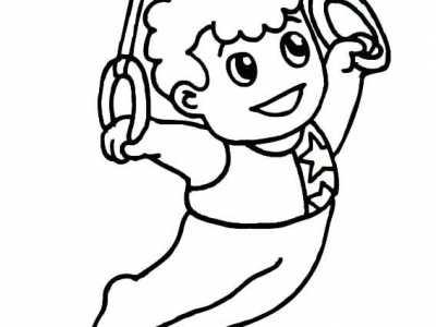 幼儿园运动简笔画 幼儿头部运动简笔画
