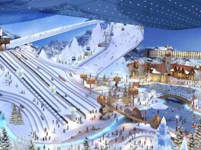 沙漠中冰雪奇迹室内滑雪场 沙漠滑雪场设备