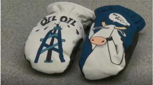 阿尔伯塔运动员手套引关注 加拿大的冬季体育运动