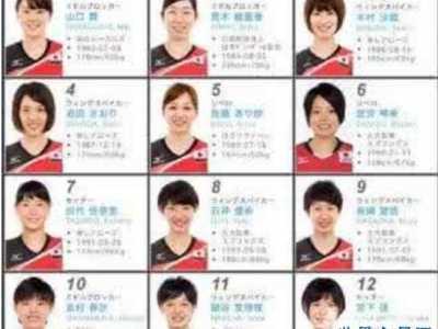 日本女排第一美女 日本女排名单