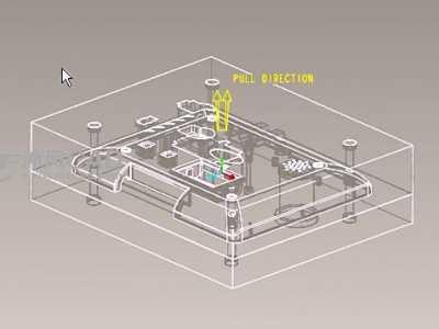 模具零件后续处理实例讲解 proe后置处理
