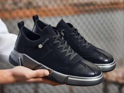春季新款男士运动鞋 黑色休闲裤配运动鞋图