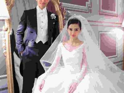 女神angelababy和教主黄晓明室内外景婚纱照高清全套 angelababy婚纱照