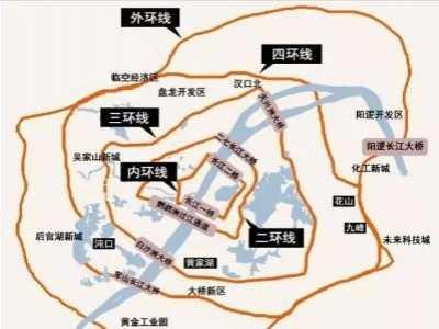 武汉的内环线、二环线、三环线、四环线、五环线到底在哪里 武汉二环线