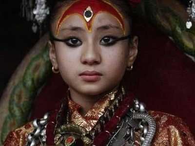 """尼泊尔有一个""""女神"""" 尼泊尔女神"""