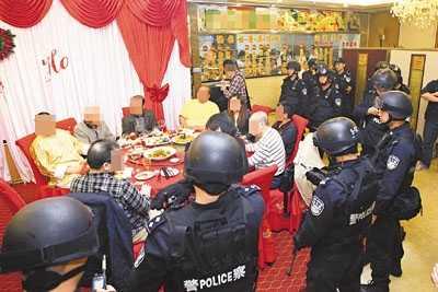 香港黑社会成员深圳聚会被端14名黑帮大佬被带走 香港最大的黑社会