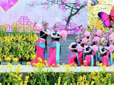 首届湖北油菜花旅游节开幕 湖北旅游节