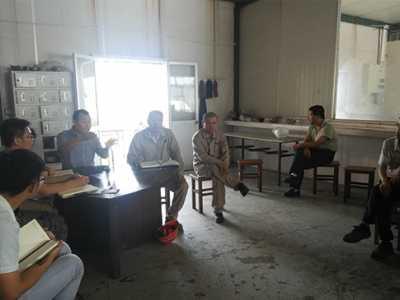 集团周总下车间召开全员工作动员大会 鼓励工厂工人的讲话