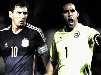 梅西PK巴萨门神 阿根廷vs智利