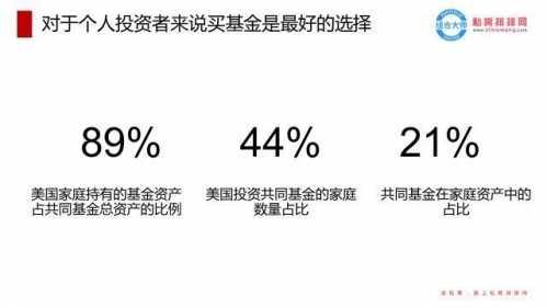 44%的美国家庭都是这幺选的 基金和股票
