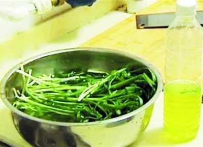 韭菜越洗水越绿 蓝矾韭菜