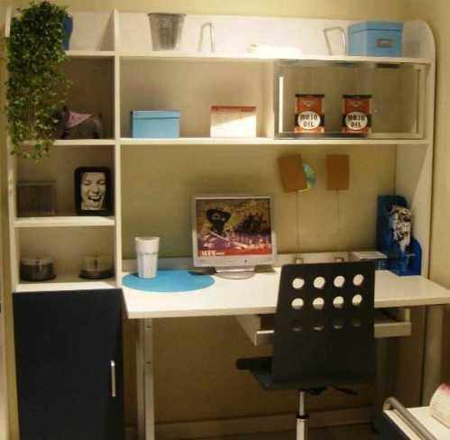 小面积书房书柜书桌摆放风水位置设计图 小书房书柜